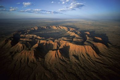 Meteoric crater, Australia