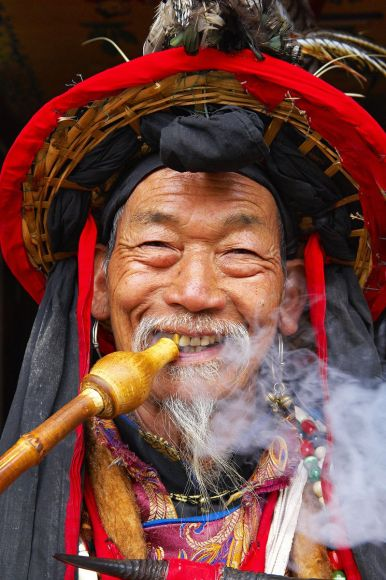 Dongba shaman, Yunnan Province, China