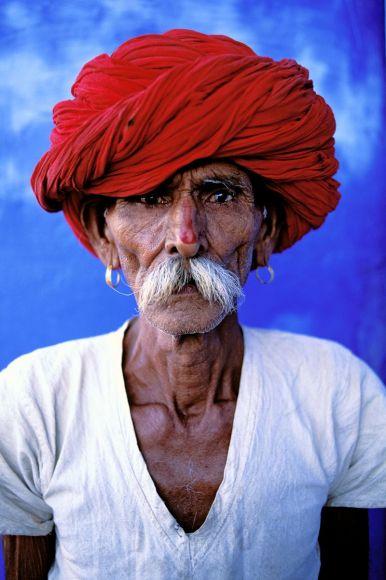 Homme rajpute, Jodhpur, Rajasthan, Inde
