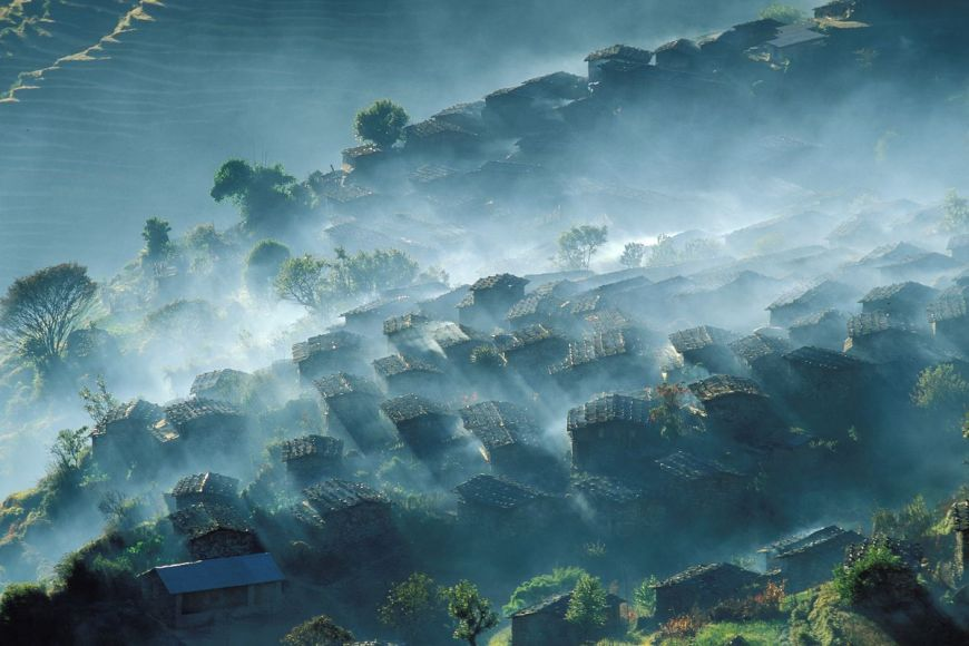 Village de Laprak, Gandaki, Népal
