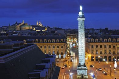 Place Vendôme de nuit, Paris, France