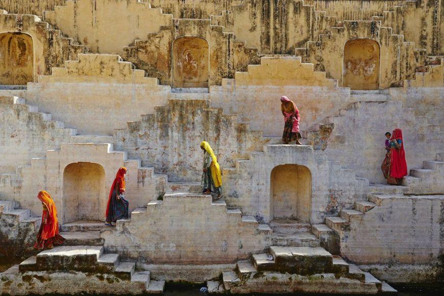 Réservoir d'eau, Rajasthan, Inde
