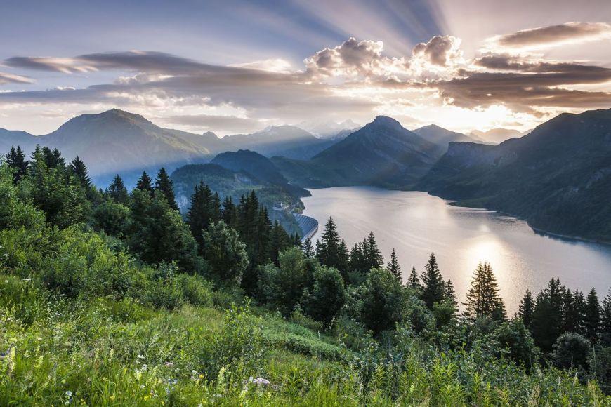 Roselend lake, Savoie, France