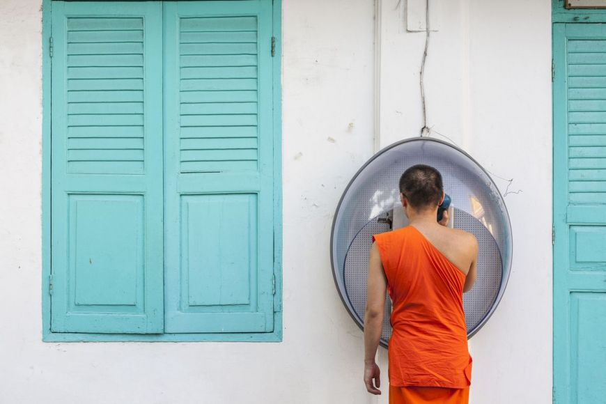Buddhist monk, Bangkok, Thailand