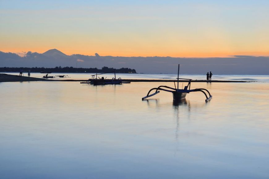 Gili Meno at sunset, Lombok, Indonesia