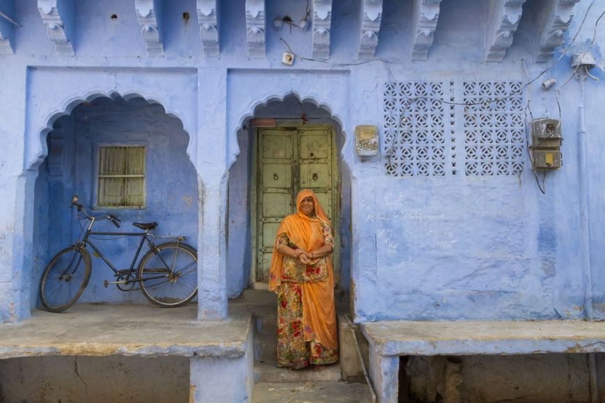 Femme en sari, Rajasthan, Inde