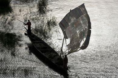Mali, Boat on the Niger River