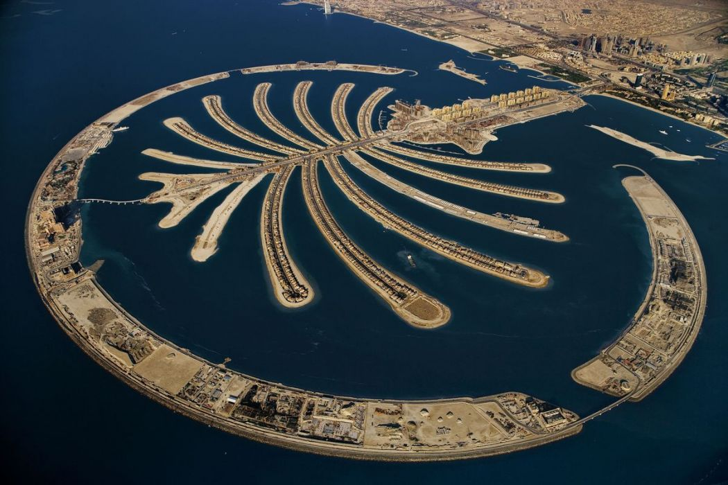 Palm Jumeirah artificial island, Dubai