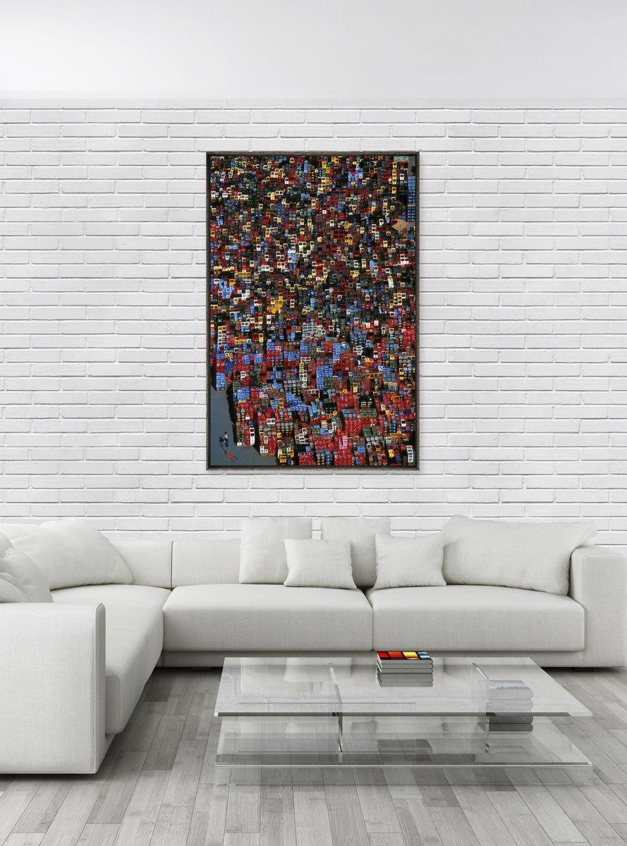 photographie d 39 art abstraite de vue a rienne de casiers en allemagne. Black Bedroom Furniture Sets. Home Design Ideas