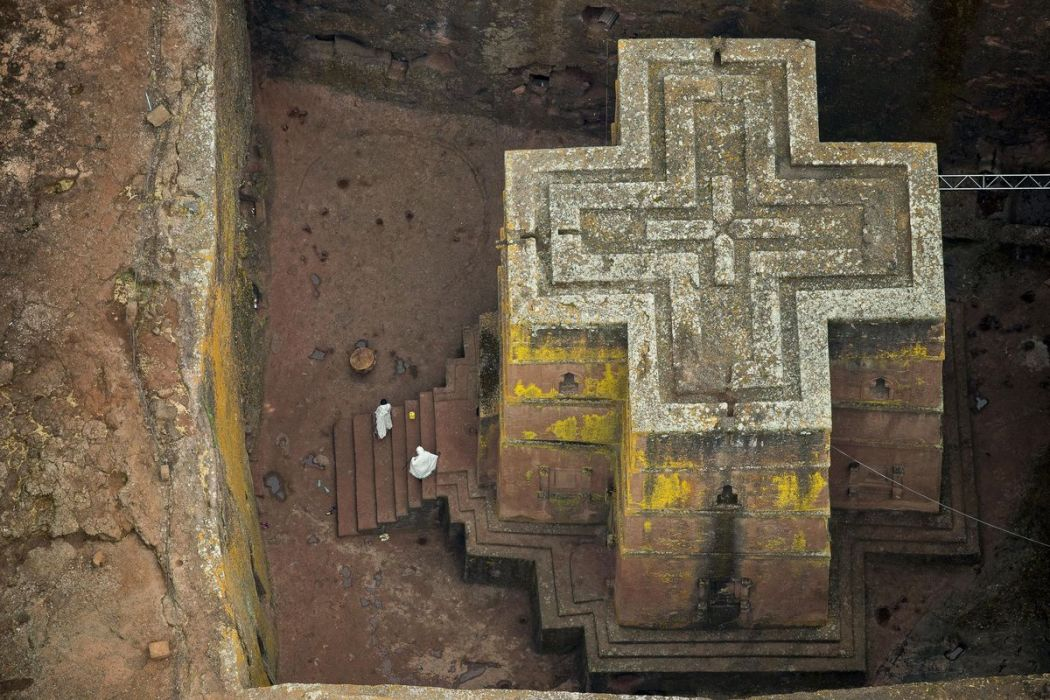 The Church of St. George in Lalibela, Ethiopia