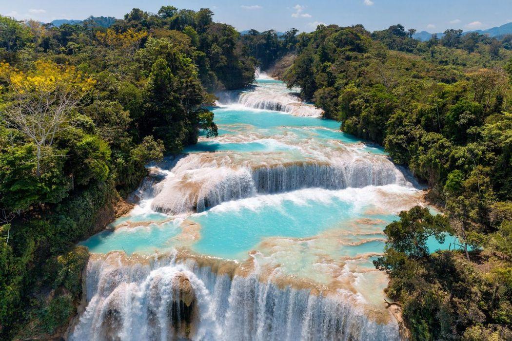 Agua Azul Cascade Mexico Hemisgalerie